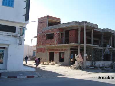 Baustelle in Tunesien