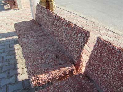 Betonnkorrosion Betonbank