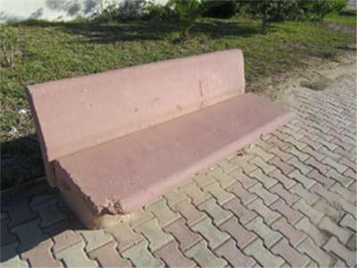 Bank aus Beton