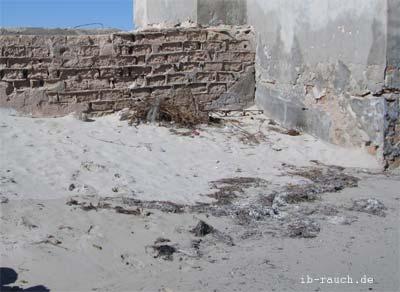 Korrosion von Betonsteine durch Meereswasser