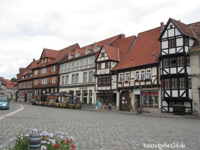 Stadtbild in Quedlinburg