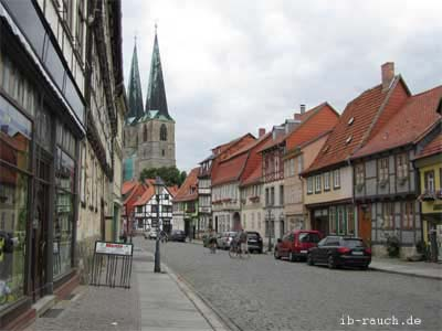 Sanierte Fachwerkhäuser in Quedlinburg
