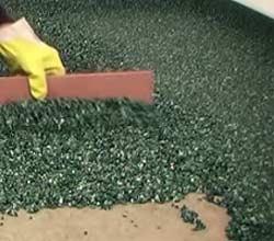 Anfertigung eines Steinteppichs