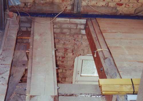 Sanierung eines Bauschadens
