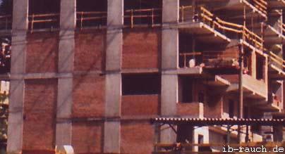 Ziegelmaterial zur Ausfachung von Stahlbetonskelettbau in Kiew