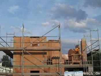 schmale Mauerwerk eines Stadthauses