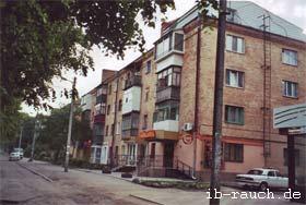 Wohngebäude aus Ziegelsteinen in Vinnitsa